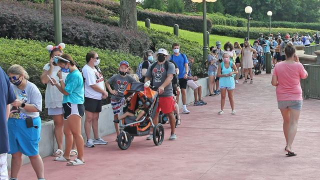Walt Disney World — people wearing masks