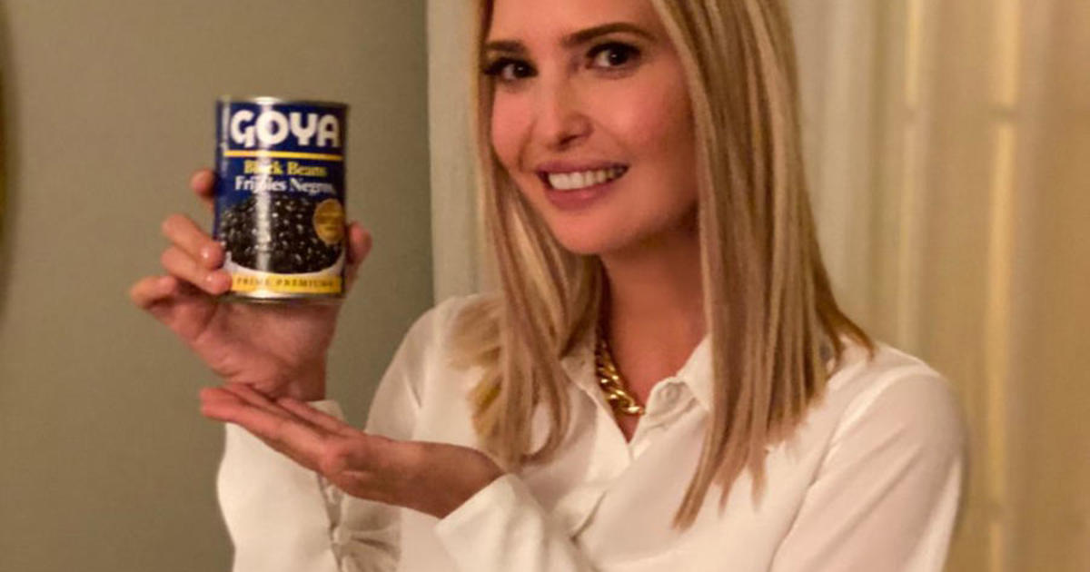 Photo of Ivanka Trump tweet featuring can of Goya beans sparks backlash | CBSNews