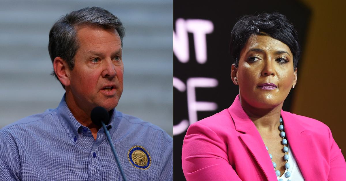A Crying Shame! Georgia Gov. Brian Kemp Sues Atlanta Mayor Keisha Lance Bottoms Over Face Mask Mandate
