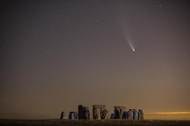 Comet NEOWISE Is Seen Over Stonehenge