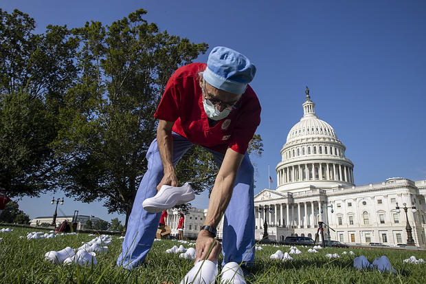 Nurses Hold Vigil For Nurses Who've Died From Covid-19 At The U.S. Capitol