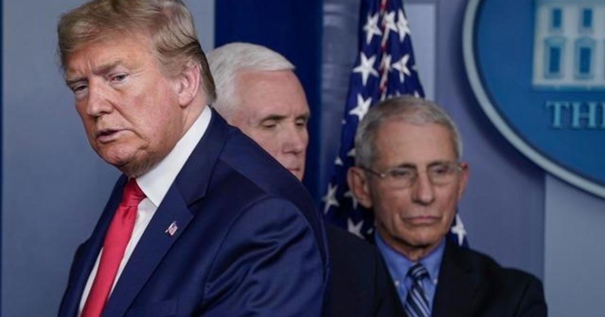 """Trump calls Fauci a """"disaster"""" but says it would be """"a bigger bomb to fire him"""""""