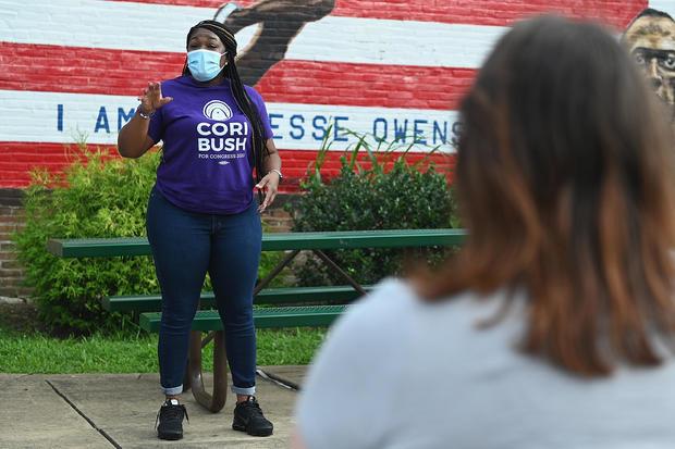 Democratic Congressional Challenger Cori Bush Campaigns In St Louis