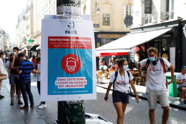 France requires masks inside public places