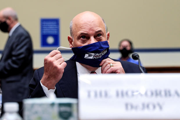 U.S. Postmaster General DeJoy and USPS Board of Governors President Duncan testify at House Oversight Committee hearing on slowdowns at Postal Service on Capitol Hill in Washington