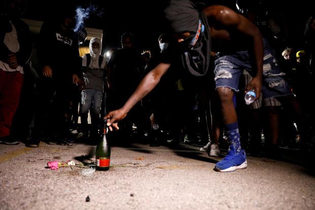 Protest following the police shooting of Jacob Blake, a Black man, in Kenosha