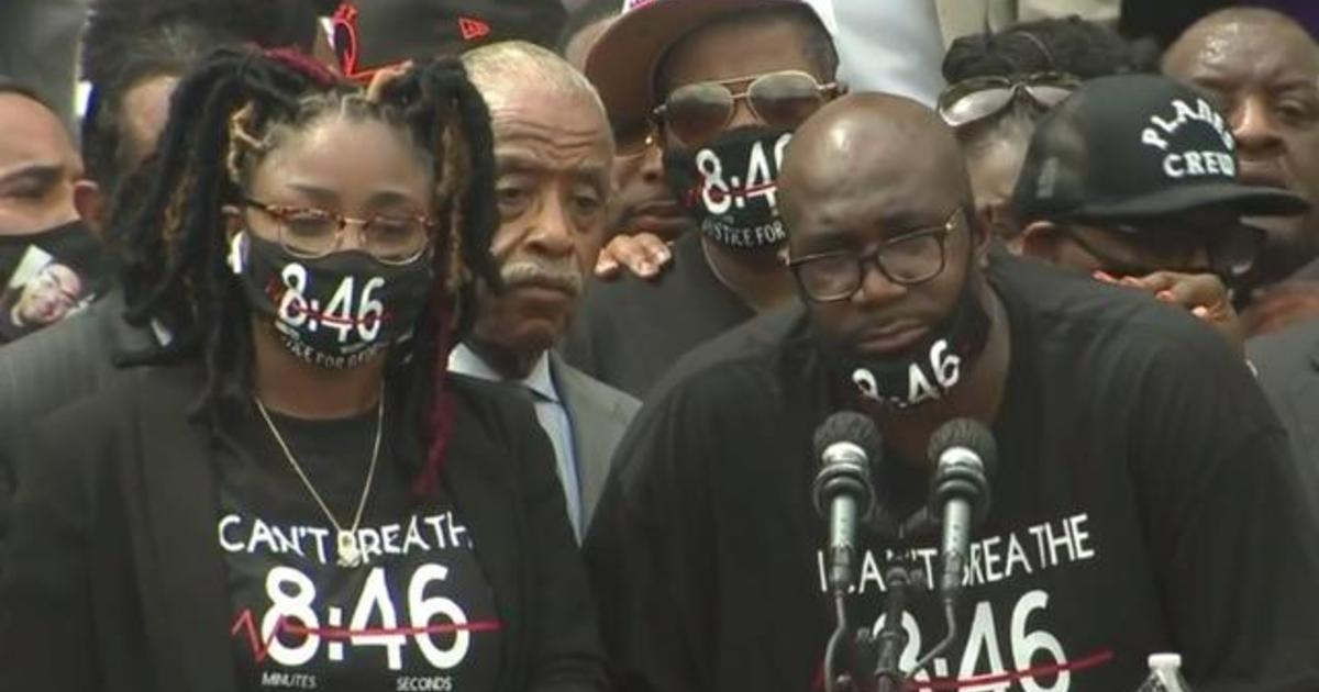 George Floyd's brother and sister speak at March on Washington – CBS News