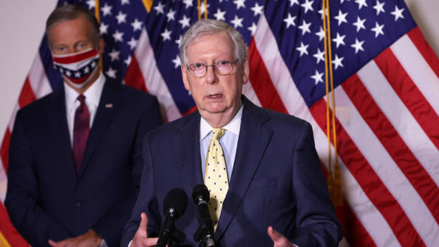 GOP And Democratic Senators Hold Press Conferences At The U.S. Capitol