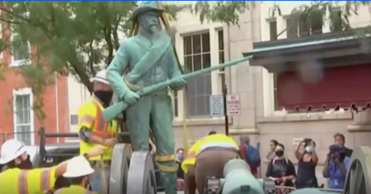 Charlottesville removes Confederate statue near site of