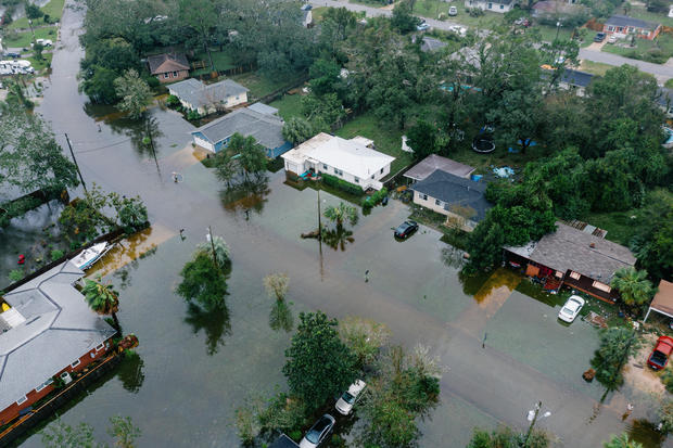 PENSACOLA, USA - SEPTEMBER 16:Downed trees and flooding in Wes