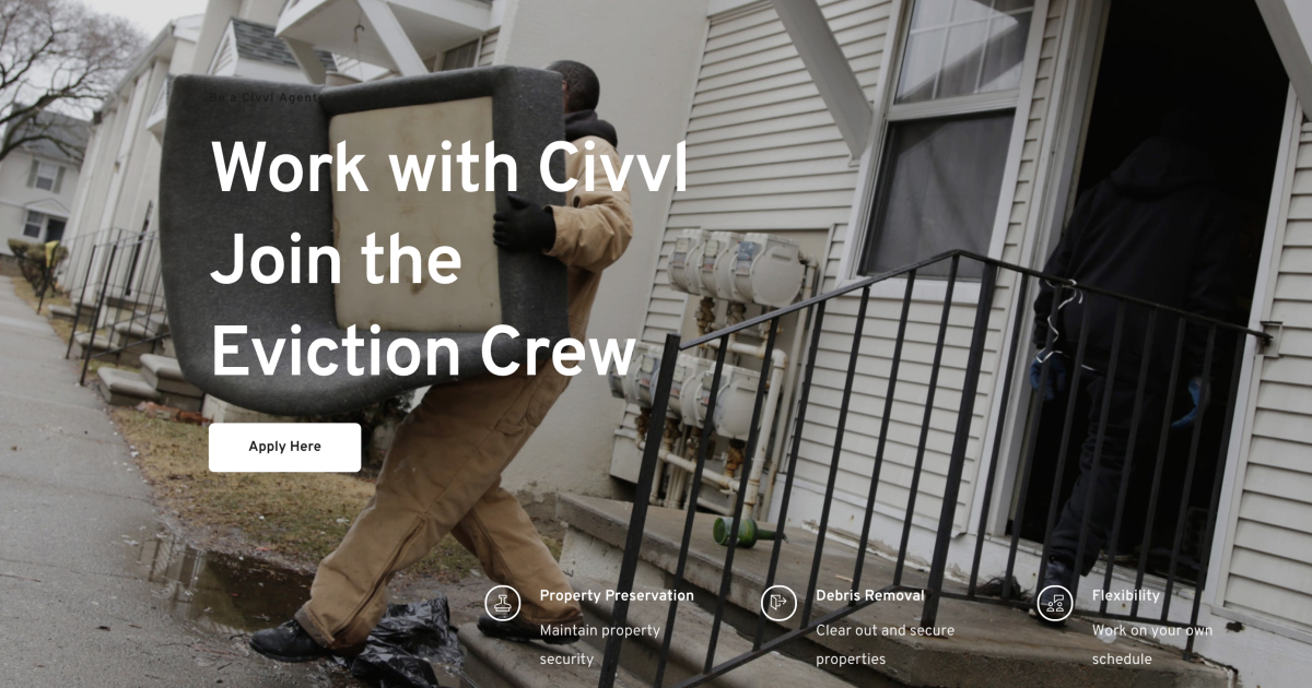 New app creates jobs in a burgeoning field: Evictions