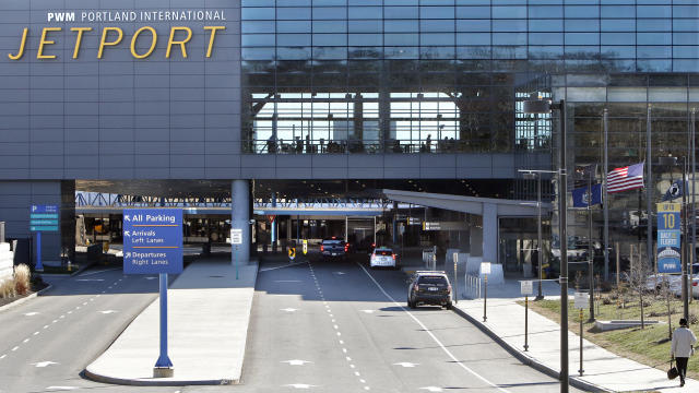 Plane takes off from Portland Jetport