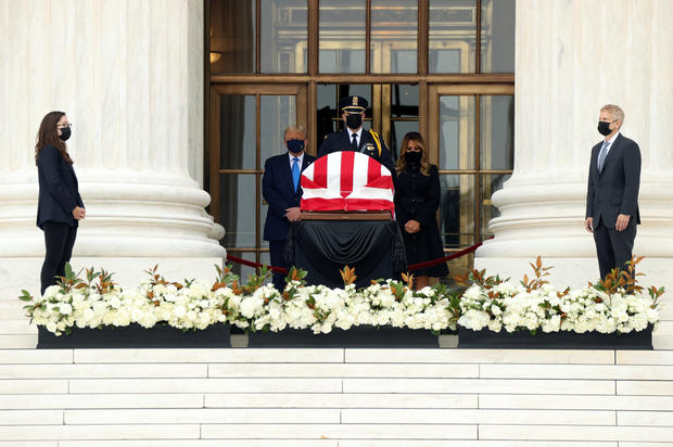 Late U.S. Supreme Court Justice Ginsburg lies in repose in Washington