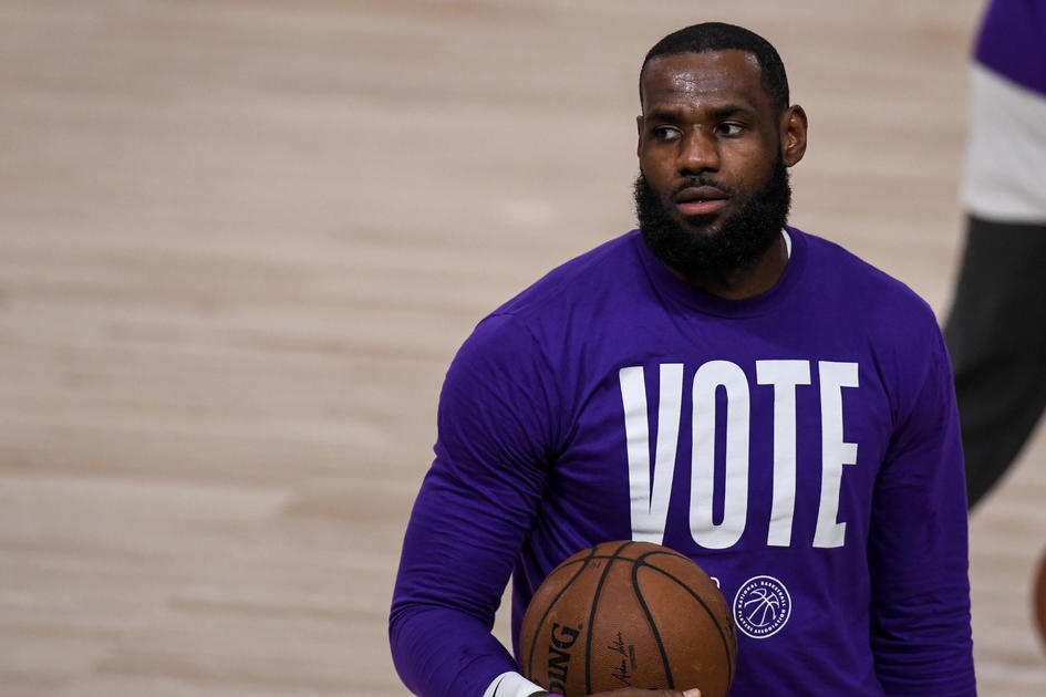 LeBron James`s More Than A Vote voting rights...