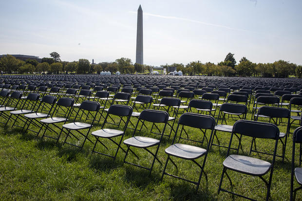 20,000 Empty Chairs Placed Near White House To Remember 200,000 Lives Lost To COVID-19