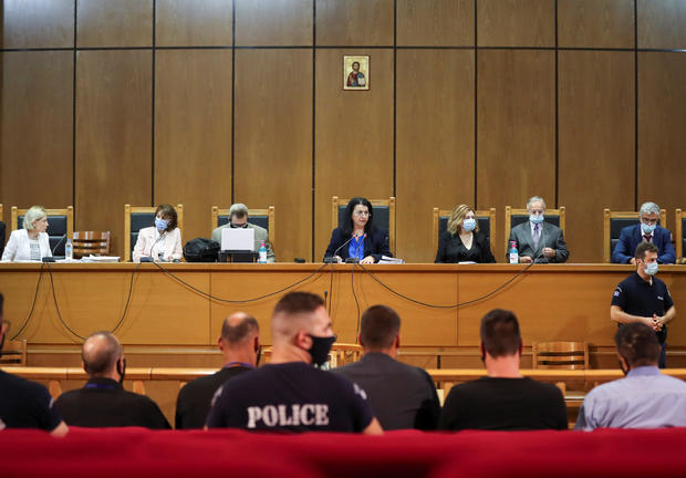 Trial of leaders and members of far-right Golden Dawn party in Athens