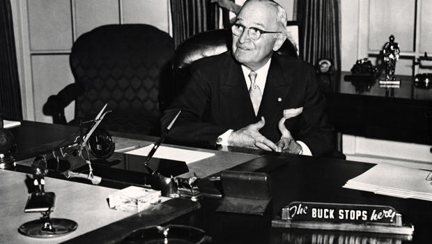 Truman sitting in Library
