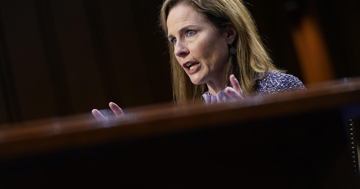 """Democrats grill Amy Coney Barrett in hearings: """"I assure you I have my own mind"""" - CBS News"""