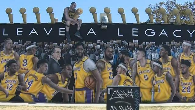 Los Angeles Lakers Receive Championship Rings With Special Tribute To Kobe Bryant Cbs News