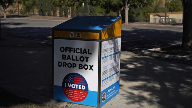 Election 2020 California Ballot Box