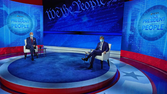 """ABC News Presents """"The Vice President and the People"""" Town Hall with Presidential Candidate Joe Biden and George Stephanopoulos"""