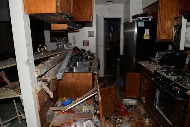 Draylen Mason kitchen after bomb donated