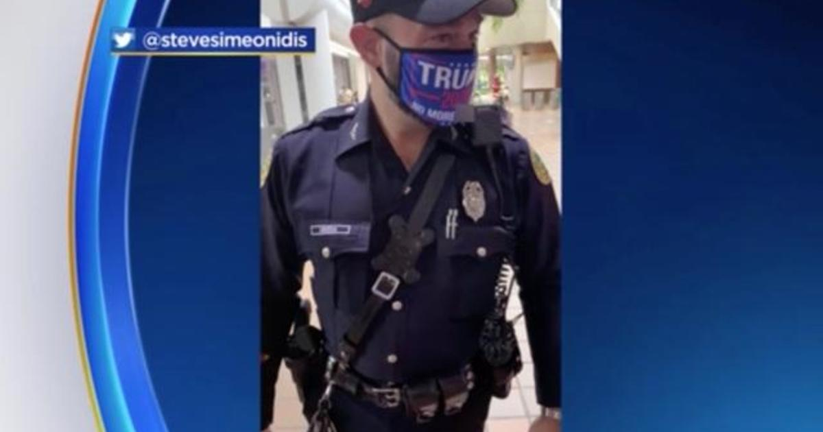 Miami cop faces discipline for wearing Trump 2020 face mask at voting site
