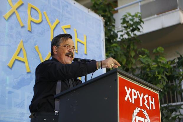 Golden Dawn MP (Member of Parliament) Christos Pappas