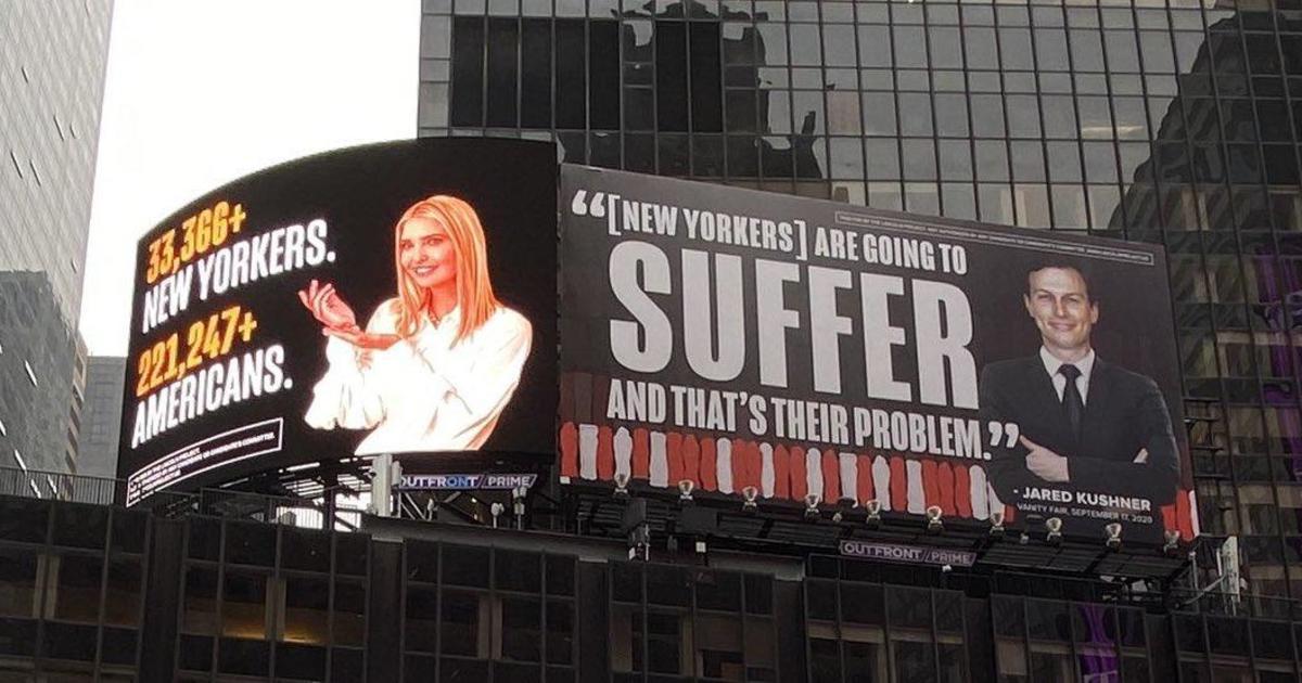 Ivanka Trump, Jared Kushner threaten lawsuit over COVID billboards thumbnail