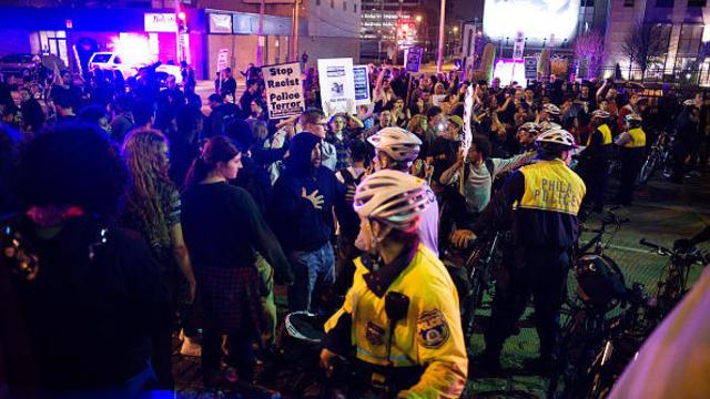 Protest Turns Violent in Philadelphia, Pennsylvania