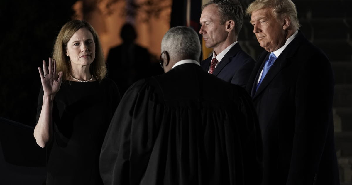 Barrett joins Supreme Court with politically charged legal fights looming
