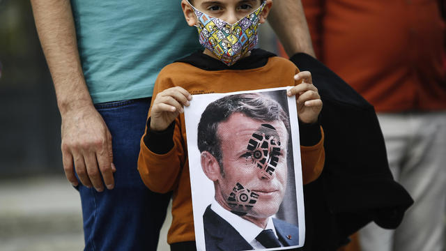 Turkey France Protest