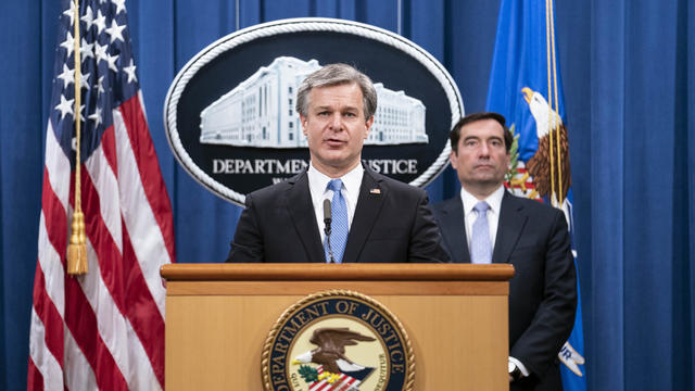 Department Of Justice Holds News Conference On Chinese National Security