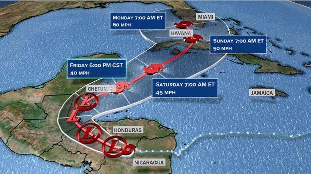 Florida in the path of Tropical Storm Eta