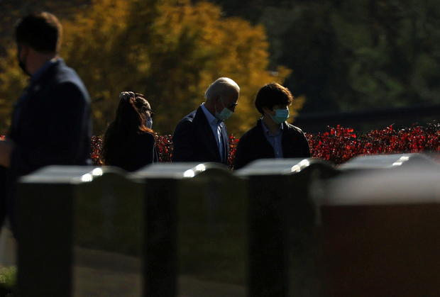 U.S. President-elect Joe Biden visits family graves after a church service in Wilmington, Delaware