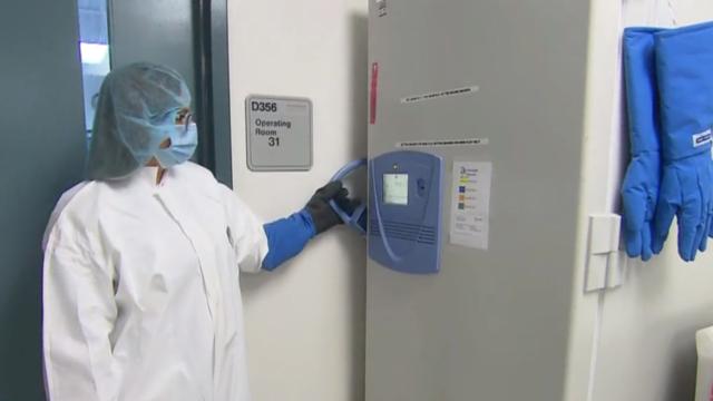 Coronavirus vaccine freezer