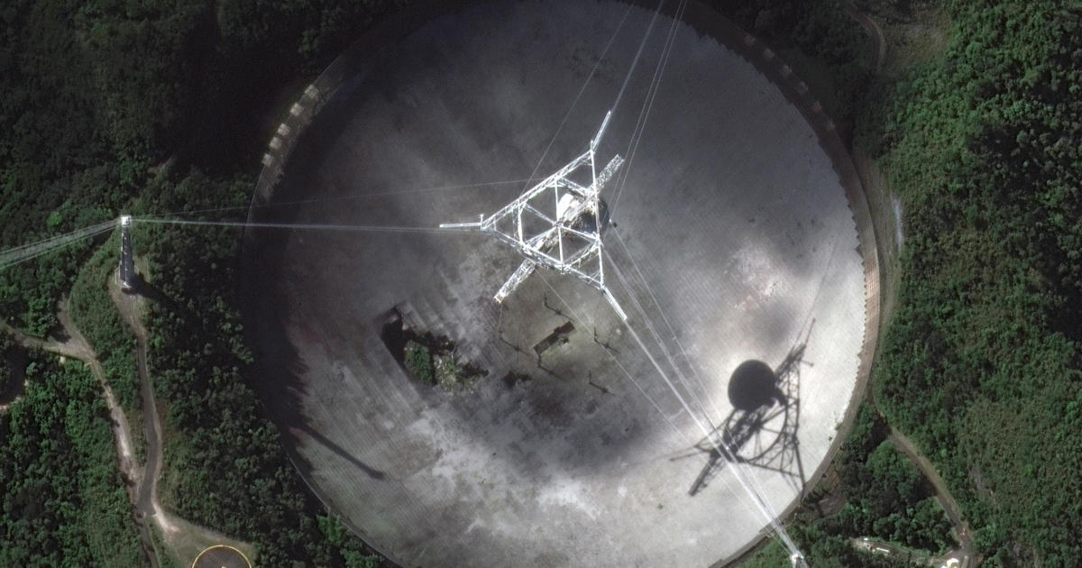 Iconic Arecibo Observatory radio telescope collapses after cable broke - CBS News