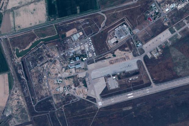 2020 satellite photo of Karshi-Khanabad base