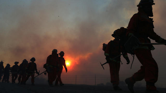 Bond Fire in Southern California