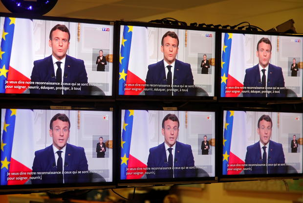 French President Emmanuel Macron gives traditional New Year address to the nation