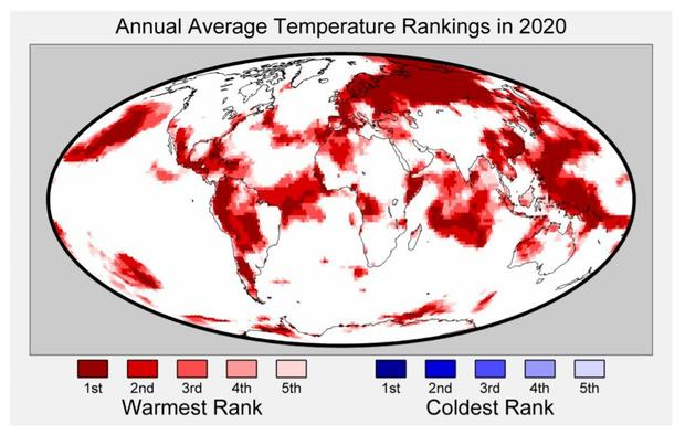 """2020 is """"effectively tied"""" for warmest year on record"""