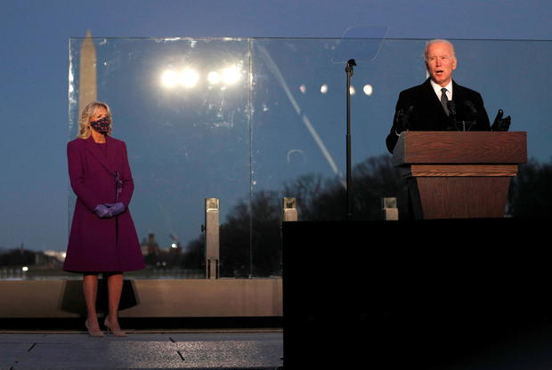 Joe Biden attends COVID-19 memorial event in Washington