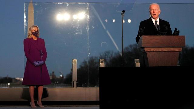 Joe Biden attends COVID-19 memorial event in Washington