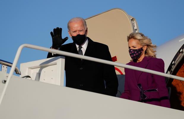 Joe Biden arrives at Joint Base Andrews in Maryland
