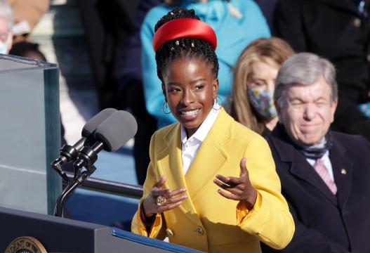 Youth Poet Laureate Amanda Gorman speaks at the inauguration of U.S. President Joe Biden