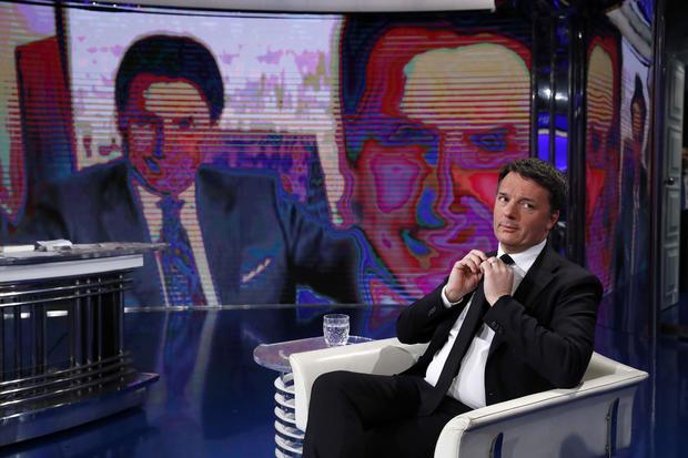 Matteo Renzi at Tv Show Porta a Porta