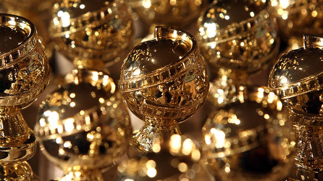 Golden Globe statuettes are seen on display during an unveiling by the Hollywood Foreign Press Association at the Beverly Hilton Hotel on January 6, 2009, in Beverly Hills, California.