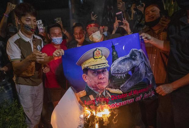 Thailand Myanmar Protest