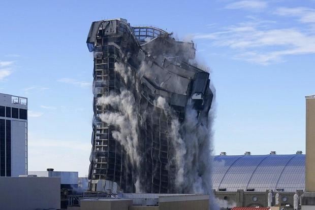 APTOPIX Ex Trump Casino Implosion