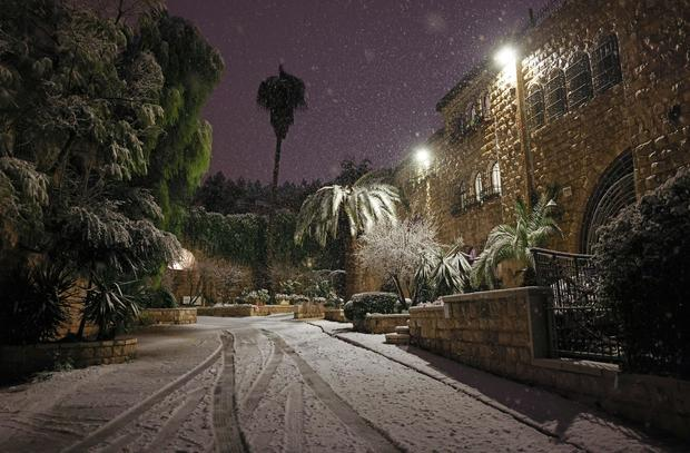 ISRAEL-WEATHER-SNOW